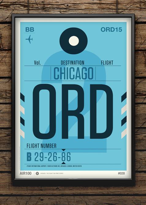 Flight Tag Prints – Posters par Neil Stevens