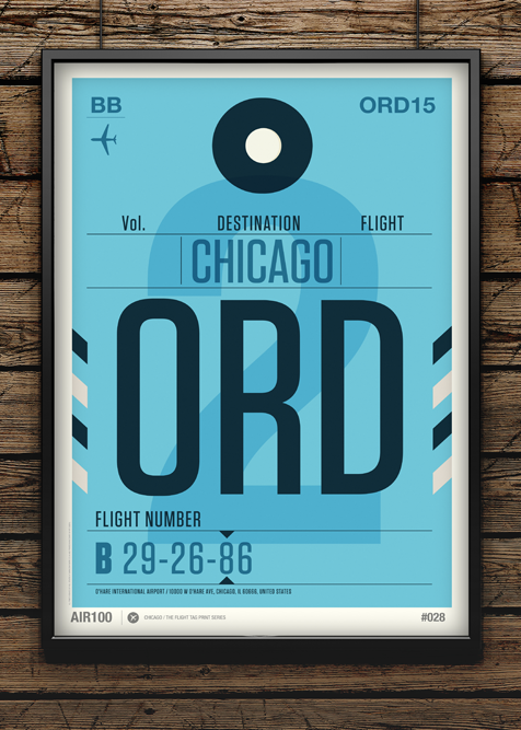Flight Tag Prints – Posters par Neil Stevens